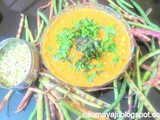 Green Cow Pea Coconut Curry