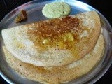 Pearl Millet Dosa with Brahmi Leaves Chutney