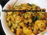 Raw Banana -Bajji Chilly Dry Curry