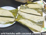 Urid Dal Kadubu in Banana leaf