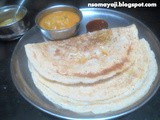 Wheat - Millet - Urid Dosa