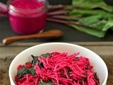 Beet pesto and greens pasta