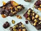 Chocolate granola bark