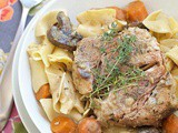 Creamy slow cooker pork and vegetables