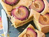 Fresh plum breakfast cake