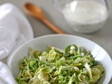 Homemade ranch dressing (and Brussels sprout slaw)