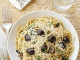 Mediterranean pasta with no cook olive sauce