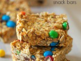 No bake trail mix snack bars