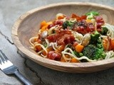 Pasta with butternut squash, broccoli and cranberry beans (guest post)