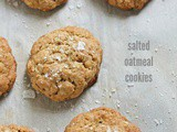 Salted oatmeal cookies: a recipe