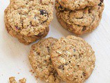 Skinny cranberry chocolate oatmeal cookies