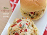 Skinny red pepper chicken sliders