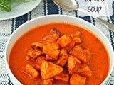 Spanish tomato soup with smoked paprika potatoes