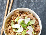Sweet and spicy slow cooker pork bowls