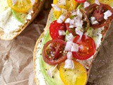 Tomato and ricotta summer sandwich