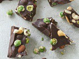 Wasabi pea chocolate bark