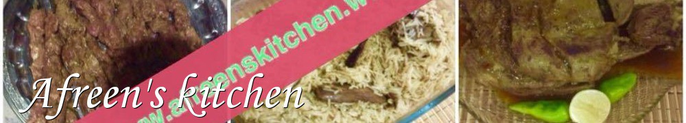 Very Good Recipes - Afreen's kitchen