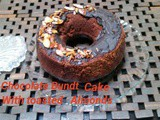 Chocolate Bundt cake with toasted Almonds