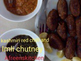 Kashmiri red chilli and Imli chutney