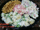 Salad Platter with four types of salads