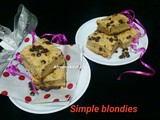 Simple blondies recipe with oil