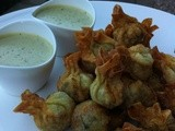 Prawn Wantons with Peanut Lime Dipping Sauce