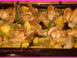 Alette e patate al forno / Wings and potatoes baked
