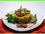 Risotto ai carciofi e prosciutto cotto / Risotto with artichokes and cooked ham