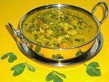 Dali ani methi ambat | togari bele menthe soppina saaru | toor dal methi (fenugreek) leaves curry | curry for rice