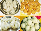 Ganesh Chaturthi recipes - Ukadiche Modak recipe - Steamed Modak - Fried Modak recipe