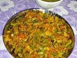 Kadai Gobi and Beans Recipe - Veg Side Dish Recipe