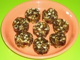 Khajoor badam kaju burfi - Dates almonds cashew nuts burfi dry fruits burfi recipe