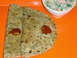 Paneer  Cauliflower  Potato  Paratha