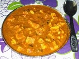 Paneer   Masala  with   Cashew   Nuts   and   Milk   Gravy