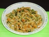 Pasta Salad Recipe - Pasta Salad with Carrot, Green Peas and Cauliflower