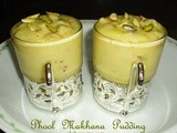 Phool makhana  pudding with vanilla custard powder