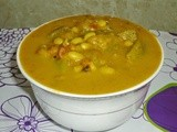 Soya  beans and  White Gourd  Kootu  - Soya Beans Curry Recipe