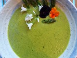 Asparagus and onion weed soup