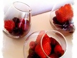 Chocolate and cardamom pudding with berries, and over 3,000 views