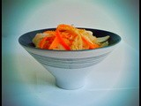Daikon and Carrot Salad with Miso and Toasted Sesame Seeds