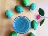 Feijoa and Spirulina smoothie