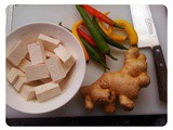 Ginger and Chili Tofu and Ginger Bok Choy... and a Ginger, Carrot and Pear Juice