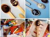 Hot chocolate spoons, and recycling Christmas Cards