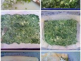 How to make a low fat Spanakopita (with onion weeds, again!)