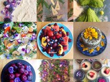 How to make food and meals more colourful, naturally (including using edible flowers)