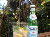 In the garden, and a fresh San Pellegrino drink for summer