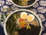 Miso Ramen with flowers