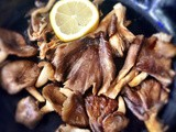 Oyster mushrooms with lemon soy butter
