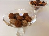 Raw, vegan, sugar free and gluten free chocolate truffles