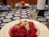 Red Beetroot risotto with Parmigiano Reggiano and Aceto Balsamico Tradizionale di Modena, step by step